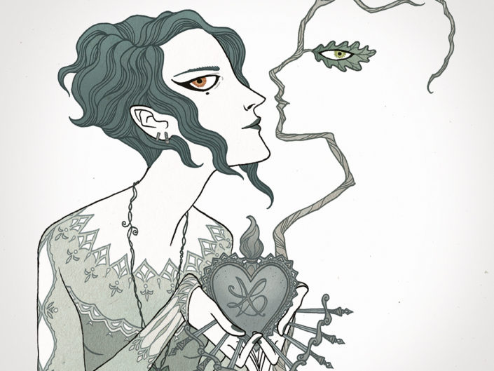 amor d'edera e quercia